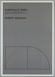 Robert Mangold, Exhibition Poster, Kunsthalle, Basel, 1977