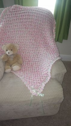 Beautiful Baby Blanket with hat and booties for newborn