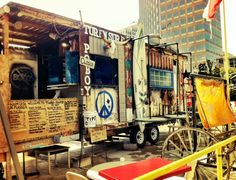EAT: Cheap and delicious lunch at what appears to be the worlds first (?) food truck - Turf n Surf Po Boy in the Warehouse District