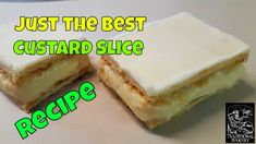 Best Custard Slice Recipe How to make demo at Bakery - YouTube Recipe Videos, Food Videos, Bakery Recipes, Cooking Recipes, How To Make Custard, Custard Slice, Slice Recipe, Sweet Tooth, Cheesecake