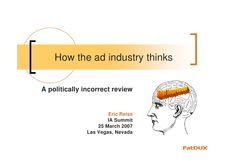 how-the-advertising-industry-thinks by Eric Reiss via Slideshare