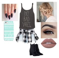 """""""No Bad Vibes"""" by tiffaniewhite101 ❤ liked on Polyvore featuring Alexander Wang, Lime Crime, Billabong, Zimmermann and Casetify"""