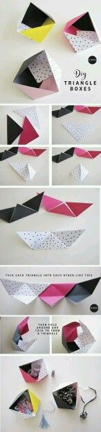 Triangle origami box tutorial