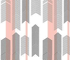 Crib Sheet in Pink Chevron Stripe