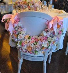 chair back. My mom used to make a smaller version of these for bridal showers