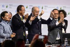 El Acuerdo de París entrará en vigor a una velocidad sin precedentes   Año 2016  Para hacerse efectivo, el Acuerdo de París que se aprobó el pasado 12 de diciembre de 2015 en la capital francesa debía de ser ratificado por 55 países que en total sumaran el 55% de las emisiones de gases de efecto invernadero a nivel mundial. Ayer se alcanzaron ambos umbrales, por lo que el tratado se confirmará en 30 días –el 4 de noviembre–, menos de un año después de su aprobación.