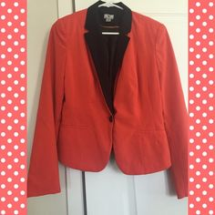 Padded blazer Very professional look. Red orange color. Has pads on both shoulders. Made in Vietnam. Worthington Jackets & Coats Blazers