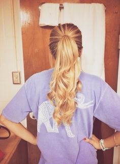 Create a cute ponytail with the help of Remy Clips clip-in Hair Extensions! Visit us today at www.remyclips.com