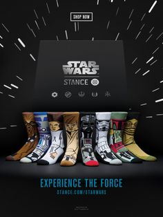 """I saw this in """"Star Wars   Stance Socks Collectible Box Set"""" in WIRED December 2015."""