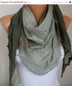Lace Scarf   scarf shawl     Free scarf  fatwoman by anils on Etsy, $20.70