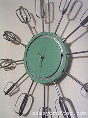 It's always time to bake? lol Atomic eggbeater clock *Copyrighted by sassycrafter*