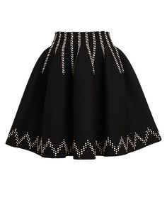 AZZEDINE ALAÏA | Notched Detail Stretch-Wool Skirt