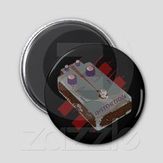 Electric Guitar Distortion Pedal Black & Maroon from Zazzle.com