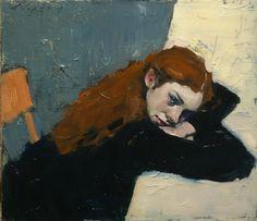 Malcolm Liepke : Schoolgirl, 2017, oil on canvas, 14 x 16