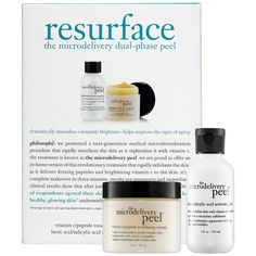 Shop philosophy's Resurface - The Microdelivery Dual-Phase Peel at Sephora. This two-step duo contains vitamin C to help resurface and replenish skin.