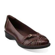 Recent Kiko  Brown Leather | 65086  Refined details add polish to a comfortable women's flat. Crafted of extra-soft leather with Bendables flexible construction, it features an OrthoLite® footbed for all-day cushioned comfort. This classic brown leather slip-on will be one of your favorite basics. $84.99