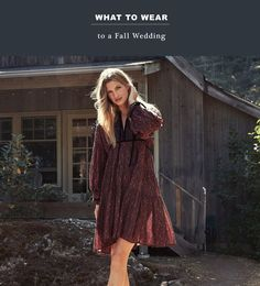 What to Wear: 15 Autumnal Dresses for a Fall Wedding - Green Wedding Shoes 15 Dresses, Fall Dresses, Free People, Deep V Dress, Paisley Print Dress, Cocktail Attire, Tiered Skirts, Festival Dress, Fall Wedding