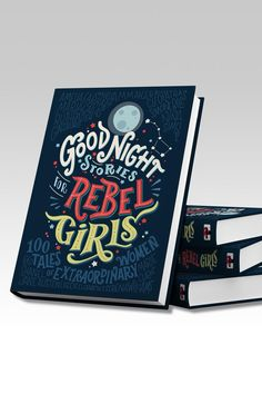 "Good Night Stories for Rebel Girls. 7x10 Hardcover Book. Good Night Stories for Rebel Girls reinvents fairy tales inspiring girls with the stories of 100 heroic women from Elizabeth I to Serena Williams. Illustrated by 60 female artists from every corner of the globe this is the most-funded original book in the history of crowdfunding. ""These are the bedtime stories we should be reading to our daughter."" -Hollee Actman Becker Parents magazine ""The anti-princess picture book (you and) little…"
