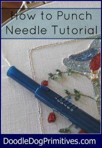 How to Punch Needle - PunchNeedle - Needle Punch Tutorial