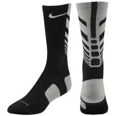 Nike Elite Sequalizer Crew Sock - Mens - Black/Sport Grey/White