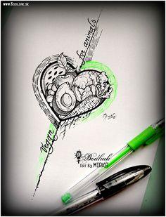 Ovocie a zelenina ... 2016 #art #tat #tattoo #tattoos #tetovanie #original #tattooart #slovakia #zilina #bodliak #bodliaktattoo #bodliak_tattoo #fruit_tattoo #vegan_tattoo #vegetables_tattoo