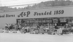 The A & P supermarket on East Main St.