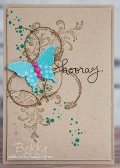 Stampin' Up! UK Feeling Crafty - Bekka Prideaux Stampin' Up! UK Independent Demonstrator: Timeless Textures Butterfly Celebration Card