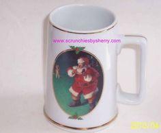 1996 Coca Cola When Friends Drop In Coffee Mug Coke Cup Santa Christmas