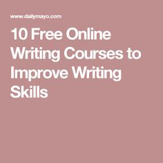 10 Free Online Writing Courses to Improve Writing Skills