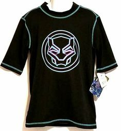 NWT Marvel Black Panther Boys T-shirt Large Cool Kids Silver 3D Boys 10-12