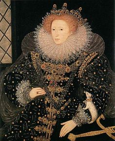 """March 1603 Queen Elizabeth I dies. """"Ermine""""Portrait of Elizabeth I by Nicholas Hilliard or William Segar, painted c. It can be seen at Hatfield house. That's supposed to be an ermine on her arm. Elizabeth I, Elizabeth Bathory, Elizabeth England, Mode Renaissance, Renaissance Jewelry, Isabel I, Marie Stuart, Tudor Monarchs, Elizabethan Era"""
