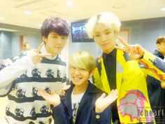 """Onew with Woohyun (Infinite) & Key (SHINee): """"ToHeart"""" at SBS 'Inkigayo' (30 March 2014)."""