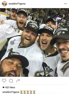 Stanley Cup winners selfie by Geno Pens Hockey, Hockey Teams, Hockey Players, Hockey Stuff, Sports Teams, Ice Hockey, Hockey Puck, Hockey Mom, Pittsburgh Penguins Hockey