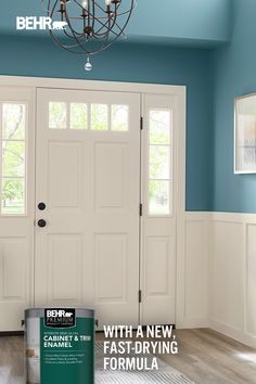 "When someone walks in your front door, do you want them to think, ""wow!"" or, ""blah""? We thought so. Introducing BEHR Premium® Interior Cabinet & Trim Enamel in White Mocha OR-W11. With our new fast-drying formula, you can give your space a fresh coat of stunning paint that'll dry in just about two hours*. Click below to learn more. *Limitations apply."