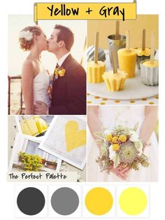 Yellow and gray inspiration board