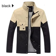 Item Type: Outerwear & Coats Outerwear Type: Jackets Gender: Men Clothing Length: Regular Cuff Style: Conventional Closure Type: Zipper Hooded: No Collar: Turn-down Collar Decoration: None Sleeve Styl