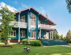 Дом с верандой в Подмосковье   Дома из клееного бруса   Журнал «Деревянные дома»