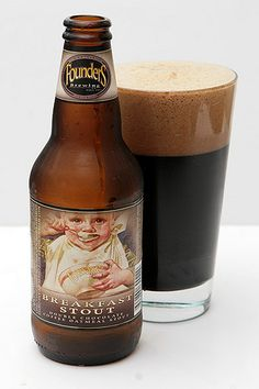 I think it's only appropriate that my first alcoholic beverage after I have the baby is a Founder's Breakfast Stout