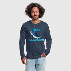 SALT ADDICTION T SHIRT Premium Sport FISHING Addict SALT WATER FISHING for Fisherman