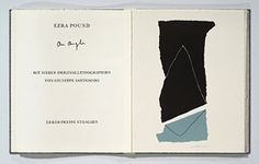7 original color lithographs by Giuseppe Santomaso (1907-1990) with 18 pages of mostly facing text from Cantos XVII and LXXVI (Pisan's) by Ezra Pound .