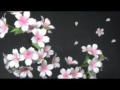 Welcome to my channel - Avonessa Fabric Flowers. How To Make Paper Flowers, Paper Crafts Origami, Tissue Paper Flowers, Diy Paper, Fabric Flowers, Origami Love, Origami Flowers, Diy Embroidery Patterns, Leaf Template