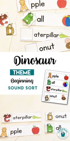 Dinosaur themed letters activity for preschoolers Dinosaur Theme Preschool, Dinosaur Activities, Sight Word Activities, Preschool Literacy, Letter Activities, Sorting Activities, Montessori Homeschool, Math Work, Word Work