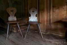 Finding Love - Take a seat for love. Old traditional chairs found at the Open Air Museum in the Black Forest of Germany.