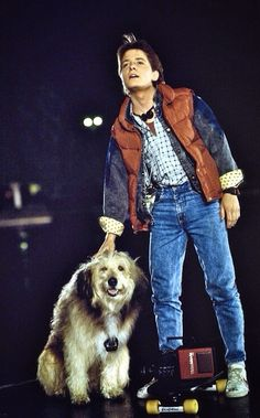 Marty McFly in Back To The Future  Order an oil painting of your pet now at www.petsinportrait.com