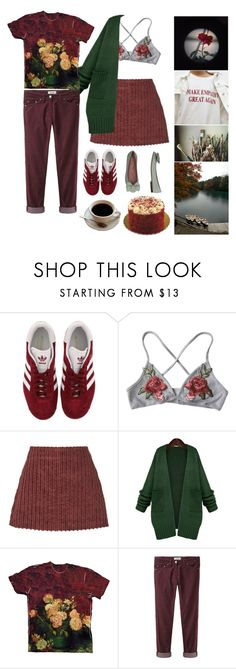 """""""Untitled #2634"""" by momoheart ❤ liked on Polyvore featuring adidas, GET LOST, Isa Arfen, WithChic, Étoile Isabel Marant, me you and RED Valentino"""