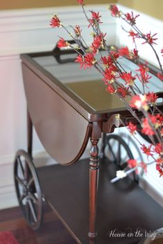 Decorating A Tea Cart