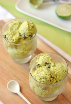 Creamy avocado ice cream made at home. You'll love it!