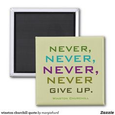 winston churchill quote magnet
