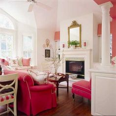 pink living room :)