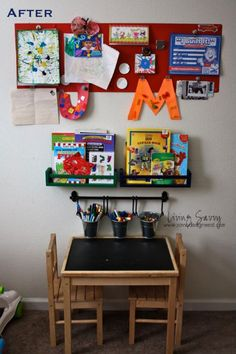 Kids Organization- maybe for a wall in the bedroom for kids?